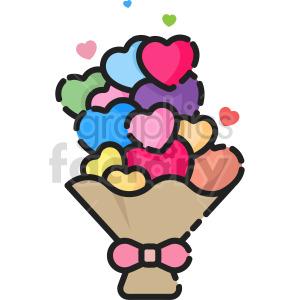 cartoon flower bouquet clipart clipart. Commercial use image # 415124