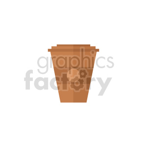 coffee cup vector clipart clipart. Commercial use image # 415148