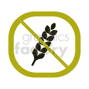 gluten free symbol vector graphic 06 clipart. Commercial use image # 415169