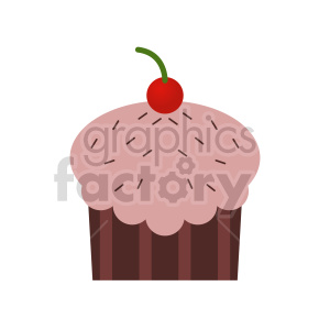 cup cake vector clipart 3 clipart. Commercial use image # 415186
