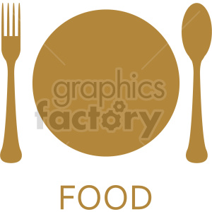 dinner plate vector clipart clipart. Commercial use image # 415198