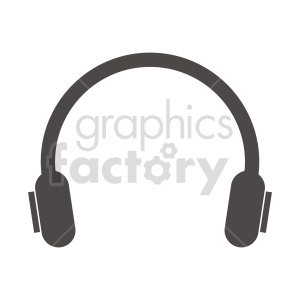 silhouette round headphones vector clipart clipart. Commercial use image # 415227