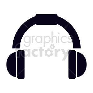 headphones icon vector clipart. Commercial use image # 415249