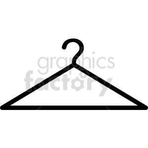 cloths hanger vector clipart clipart. Commercial use image # 415266