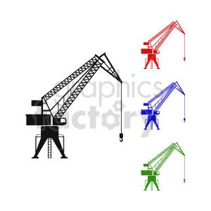 clipart - crane vector clipart.