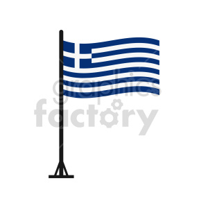 Greece flags vector clipart icon 2 clipart. Commercial use image # 415291