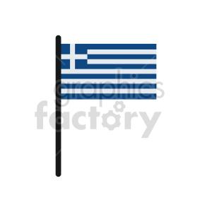 clipart - Greece flags vector clipart icon 1.