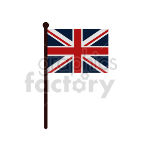Union Jack Flag of United Kingdom vector clipart 01 clipart. Commercial use image # 415383