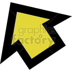 clipart - yellow arrow icon vector clipart.