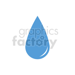 water drop icon vector clipart clipart. Commercial use image # 415498