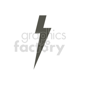 lightning bolt icon vector clipart clipart. Commercial use image # 415526