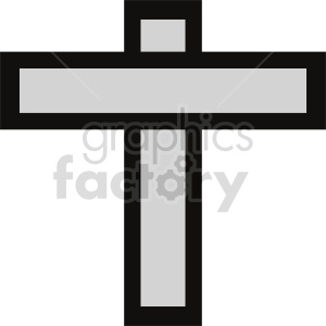 cross vector graphic clipart. Commercial use image # 415544
