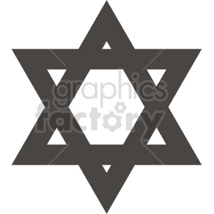 star of david vector graphic clipart. Commercial use image # 415547