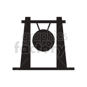 gong silhouette vector clipart clipart. Commercial use image # 415607