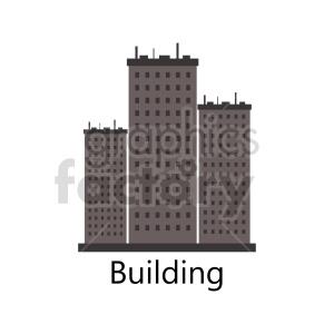 clipart - city building graphic.