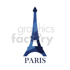 Eiffel Tower Paris France royalty free vector design clipart. Commercial use image # 415687