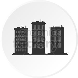 vector skyscraper icon design clipart. Commercial use image # 415689