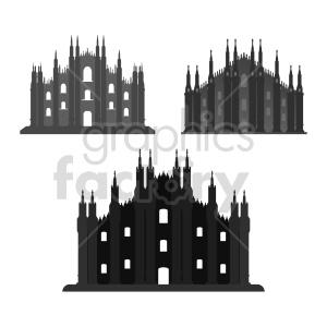 clipart - Duomo di Milano vector clipart set.