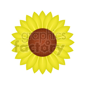 sunflower vector design clipart. Commercial use image # 415815