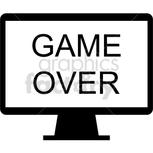 clipart - game over icon vector clipart.