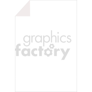 blank document vector clipart clipart. Commercial use image # 415905