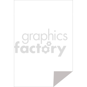blank document with folded corner vector clipart clipart. Commercial use image # 415911