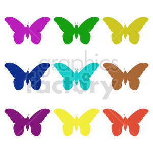 butterfly silhouette vector clipart 03_1 clipart. Commercial use image # 415919
