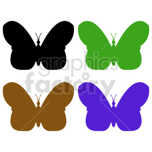 butterfly silhouette vector clipart 017 clipart. Commercial use image # 415925
