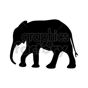 elephant vector silhouette clipart. Commercial use image # 415964