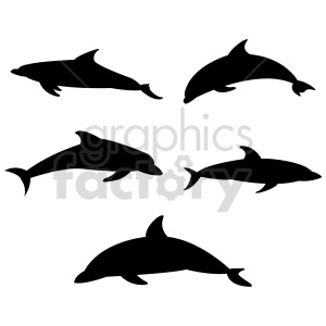 dolphin silhouette vector clipart clipart. Commercial use image # 415965