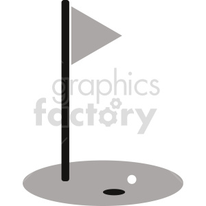 grayscale golf green vector clipart clipart. Commercial use image # 416005