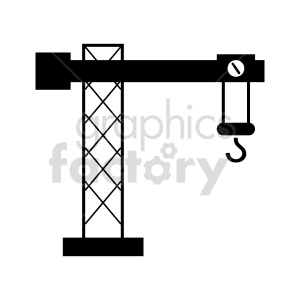 clipart - tower crane vector graphic.