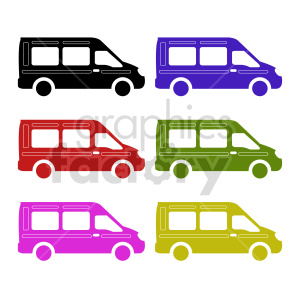 transit van bundle vector clipart clipart. Commercial use image # 416046