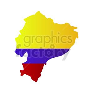 ecuador flag vector design clipart. Commercial use image # 416076