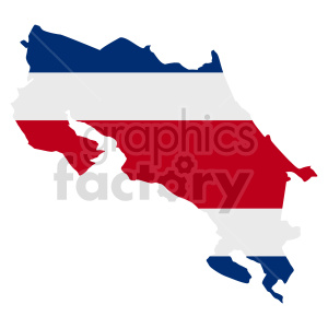 Costa Rica flag vector graphic design clipart. Commercial use image # 416083