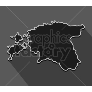 estonia outline vector image clipart. Commercial use image # 416085