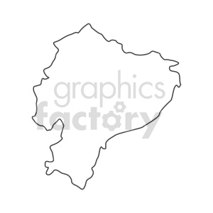 ecuador vector outline graphic clipart. Commercial use image # 416103