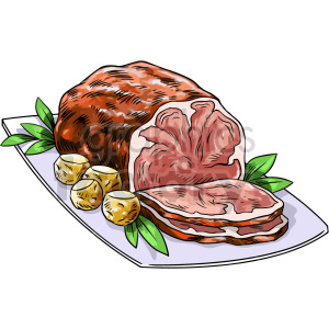 beef roast vector graphic clipart. Commercial use image # 416131