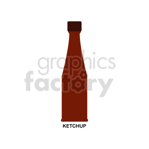ketchup bottle vector clipart clipart. Commercial use image # 416234