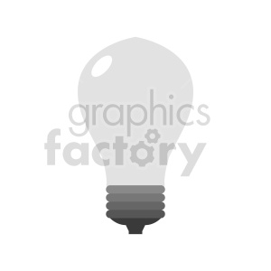 lightbulb vector graphic clipart. Commercial use image # 416278