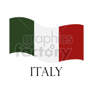 italy flag image clipart. Commercial use image # 416312