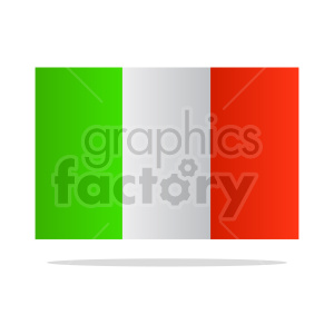 italy flag with shadow clipart