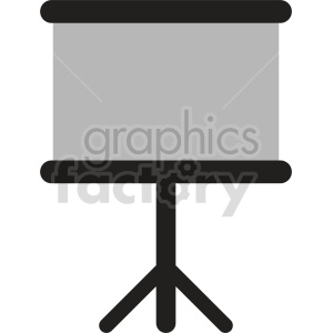 standing whiteboard vector icon clipart. Commercial use image # 416399