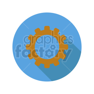 single gear vector graphic clipart. Commercial use image # 416437