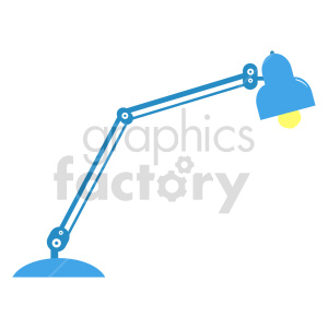 blue desk lamp vector icon clipart. Commercial use image # 416458