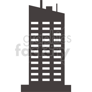 skyscraper vector icon clipart. Commercial use image # 416497