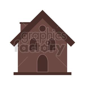 clipart - little brown house vector clipart.