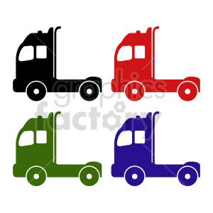 clipart - semi truck vector clipart set.