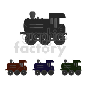 train vector graphic bundle clipart. Commercial use image # 416591