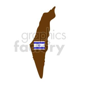clipart - israel shape vector clipart.